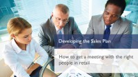 Developing the Sales Plan
