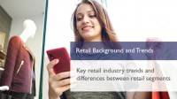 E-learning course covering retail backgrounds and trends